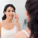 Woman removing make up